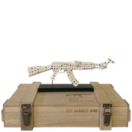 AK 47 Color Peace Dots - Art Against War